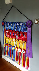 ribbon display equestrian show ribbon holder display rack made with