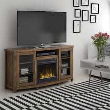 classic flame rossville 60 in media console electric fireplace in