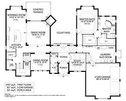 courtyard homes floor plans rear courtyard house plans mediterranean house plan mediterranean