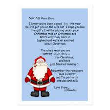letter to santa postcards zazzle