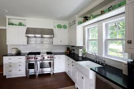 kitchen amusing white kitchen cabinets with black countertops