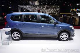 renault lodgy dacia lodgy 2014 geneva motor show side indian autos blog