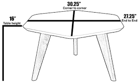 modern hex end table 2xhome