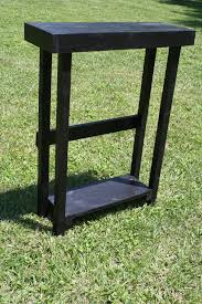 Tall Sofa Table by Beautiful Primitive Small Black Painted Tall Skinny Sofa