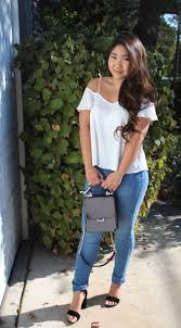 thanksgiving of the day white cold shoulder top