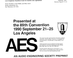 aes e library low complexity transform coder for satellite link
