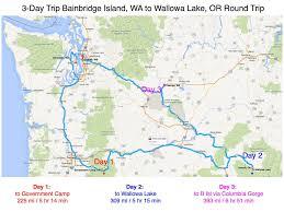 Washington Oregon Map by A 3 Day Scenic Washington Oregon Driving Trip Dr Michael Brein