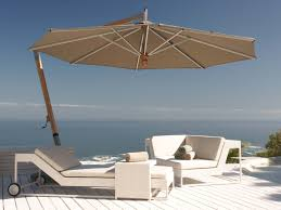 furniture orange cantilever patio umbrella with black metal stand