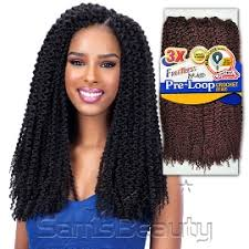 pre twisted crochet hair freetress synthetic hair braids 3x pre loop crochet braid island