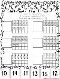 reindeer ten frames simple math problems with ten frames