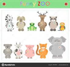 animal zoo part two funny small plush animals cartoon vector