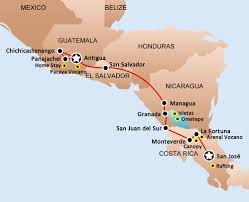 Antigua Map Trips Hop On Hop Off Bus Passes San Jose Monteverde La Fortuna