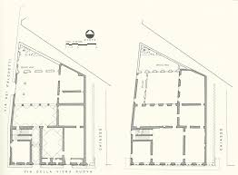 19th Century Floor Plans by Palazzo Rucellai Plan Probably Alberti C 1460 A U0026a 15th To