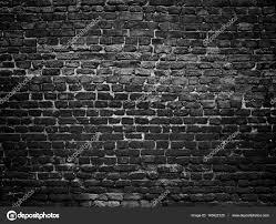 texture of a black brick wall dark background for design u2014 stock