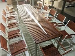 Moderner Esstisch Holz Stahl Außen Metall Tisch Und Stühle Möbelideen