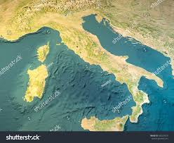 Satellite View Maps Italy Physical Map Satellite View Map Stock Illustration 456229573