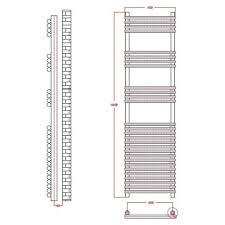 flat chrome bar on bar towel rail 1650mm x 450mm