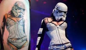 star wars burlesque tattoo geeky tattoos