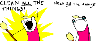 Clean All The Things Meme - meme watch x all the y