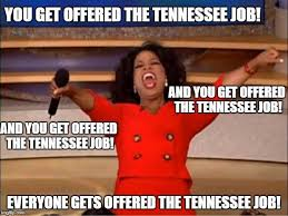 Tennessee Football Memes - tennessee coaching search explained in one meme