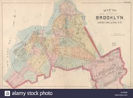 Brooklyn Neighborhood Map A Vintage Map Of The City Of Brooklyn The Map Depicts The Outline