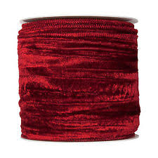 wide ribbon wine christmas crushed velvet fabric ribbon 2 wide on 11yd