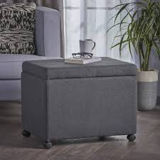 Filing Ottoman Kion Square Fabric Office Filing Ottoman With Casters By