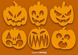 vector set of orange pumpkins silhouettes download free vector