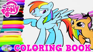 my little pony coloring book mlp rainbow dash scootaloo episode