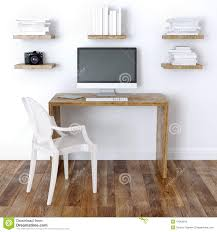 Home Office Interior Design Modern Home Office Interior Design With Bookshelve Stock