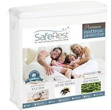 amazon com queen size saferest premium hypoallergenic waterproof