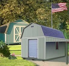 Gambrel Roof Barns Custom Built Wood Barn Storage Building With Gambrel Roof
