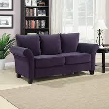 amazon com handy living milan sofa plum velvet kitchen u0026 dining