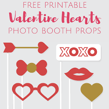 free printable valentine u0027s day photo booth props