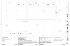 farnsworth house floor plan dimensions