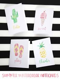 watercolor notecards summer watercolor notecards tatertots and jello