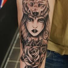 shiny wolf wolf wrist on tattoochief com