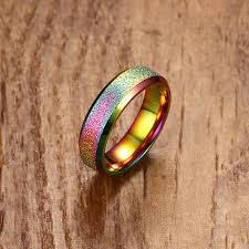coloured rings jewelry images Mens rings stainless steel vintage inspired ring in multi coloured jpg
