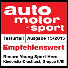 crash test siege auto formula baby recaro recaro sport 9 36 kg oto k