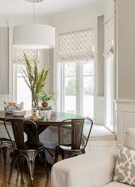 the nooks wedding band transitional bay window breakfast nook is filled with a bay window