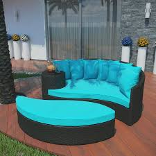 Round Sectional Patio Furniture - outdoor u0026 landscaping fabulous teal seat sectional rounded