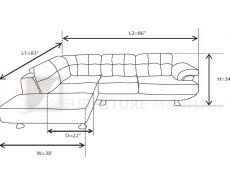 L Shape Sofa Size Couch Height Inspire Home Design