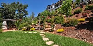 landscaping ideas for hillside backyard slope solutions install