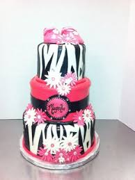 pink zebra cake baby shower 3 cakes pinterest pink photos