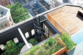 Interior Courtyard In Tribeca A Dated Penthouse U0027s Modern Upgrades Include An