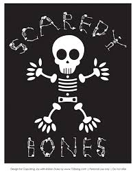 skeleton halloween printable