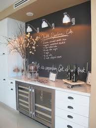 chalkboard kitchen wall ideas sweet chalkboard ideas with modern cabinet and nice potted flower