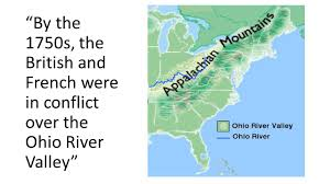ohio river valley map and indian war chapter 5 section ppt
