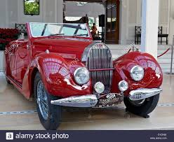 1938 bugatti type 57 classic vintage motor car in red thailand s
