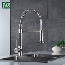 kitchen water faucet aliexpress buy flg pull out kitchen faucet nickel brushed